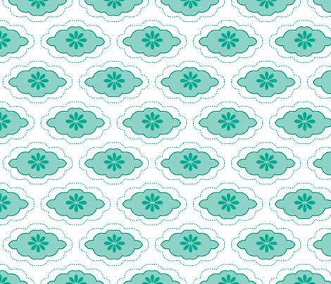 flowercloud blue fabric by myracle on Spoonflower - custom fabric