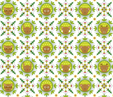 WoodlandBaby_SLaskey fabric by shannon_laskey on Spoonflower - custom fabric