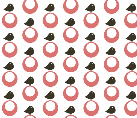 birdie pink fabric by myracle on Spoonflower - custom fabric