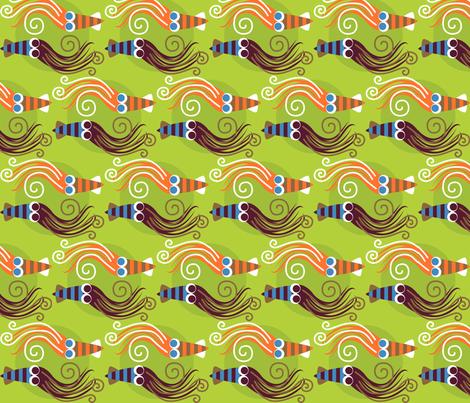 Squid fabric by malien00 on Spoonflower - custom fabric