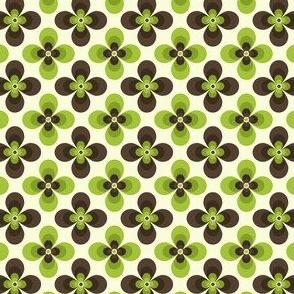 3D Green-Brown Flower