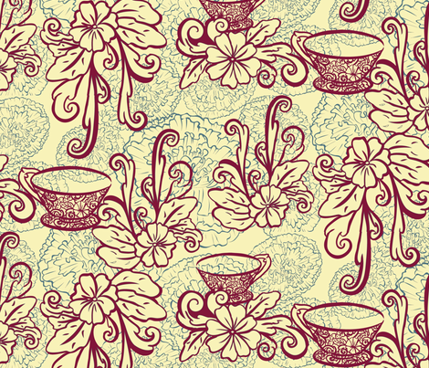 FlowerTea2011 fabric by nikky on Spoonflower - custom fabric