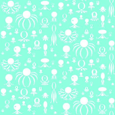 Octo Play Blue fabric by lonniepop on Spoonflower - custom fabric