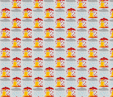 Rain fabric by ninjaauntsdesigns on Spoonflower - custom fabric
