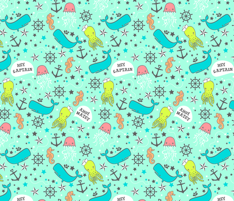 Ahoy Matey! fabric by my_zoetrope on Spoonflower - custom fabric