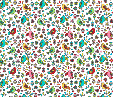 Bird Love fabric by my_zoetrope on Spoonflower - custom fabric