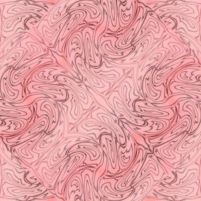 Salmon Pink Etchings 8x8