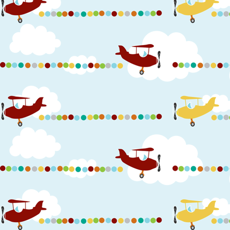 airplane fabric by mrshervi on Spoonflower - custom fabric