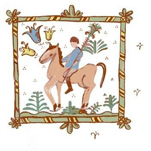Horse Boy Tiles