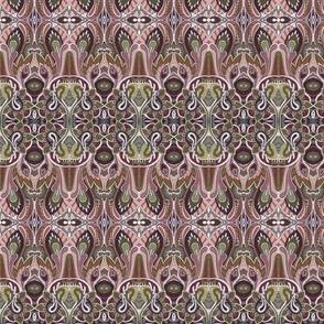 Paisley Thistles chocolate horizontal stripe