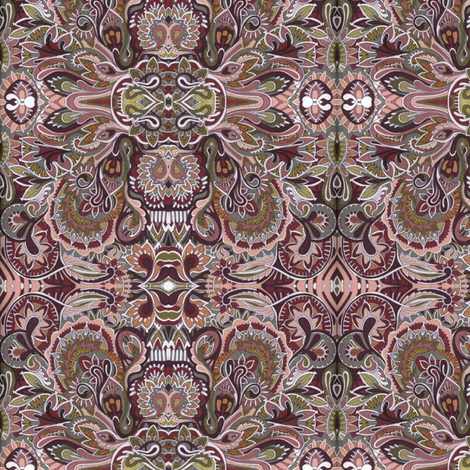 Winter Paisley fabric by edsel2084 on Spoonflower - custom fabric