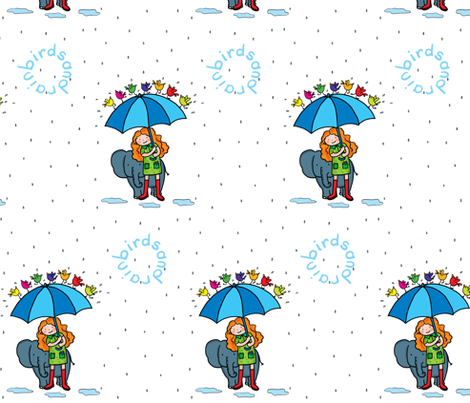 birdsandrain fabric by pinomino on Spoonflower - custom fabric