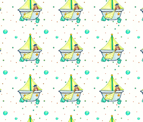 bunny's bath time fabric by jls04n on Spoonflower - custom fabric