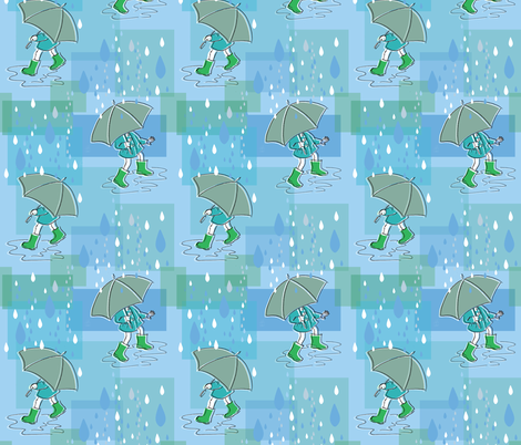 Rain Dancing fabric by woodle_doo on Spoonflower - custom fabric