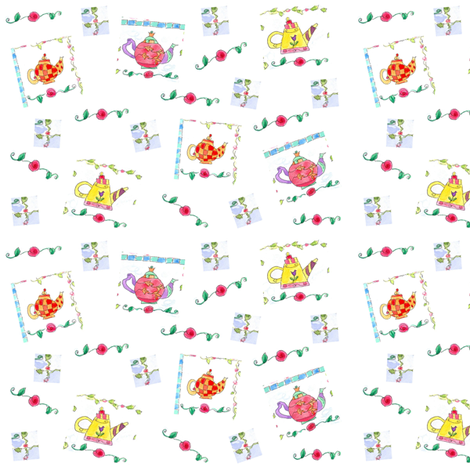 Time for Tea fabric by countrygarden on Spoonflower - custom fabric