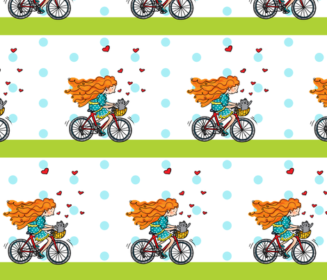 bicycle fabric by pinomino on Spoonflower - custom fabric