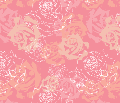 Honeysuckle Roses fabric by nikkibutlerdesign on Spoonflower - custom fabric