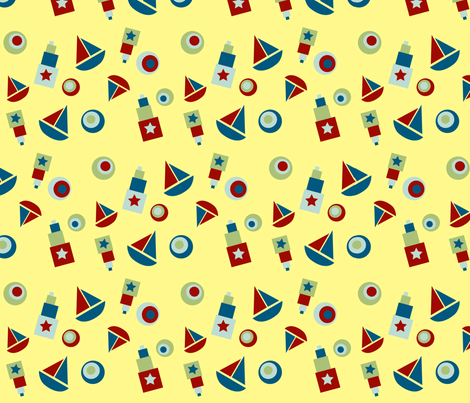 shapes are everywhere fabric by krihem on Spoonflower - custom fabric