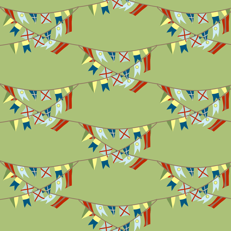 flag banners fabric by krihem on Spoonflower - custom fabric