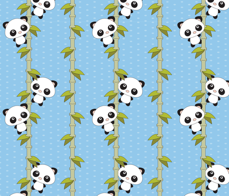 Pandamonium fabric by 2cutequilts on Spoonflower - custom fabric