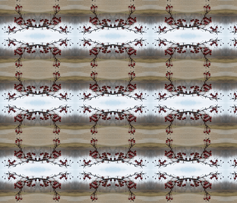 Wet Crabapples  fabric by haleystudio on Spoonflower - custom fabric