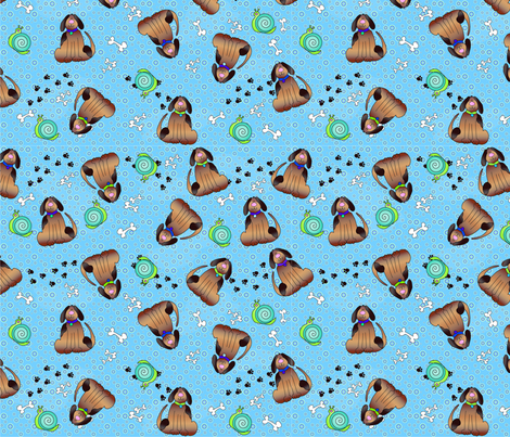 Snails & Puppy Dogs Tails by Gerri Richards fabric by cool_cat on Spoonflower - custom fabric