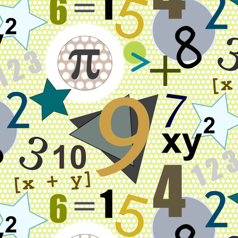 number pi polka fabric by scrummy on Spoonflower - custom fabric