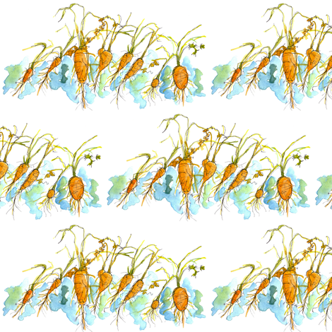 Winter Carrots fabric by countrygarden on Spoonflower - custom fabric