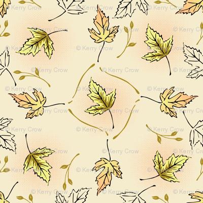 Halftone Leaves