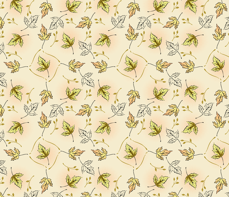 Halftone Leaves fabric by crowcreative on Spoonflower - custom fabric