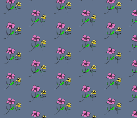 Two simple Flowers fabric by susaninparis on Spoonflower - custom fabric