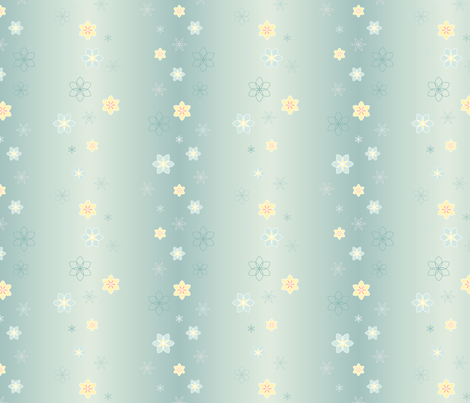 Floral Stripe fabric by crowcreative on Spoonflower - custom fabric