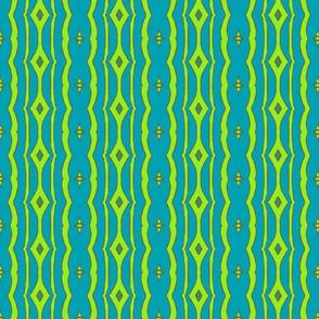 Peacock Stripe Blue/Green-ch