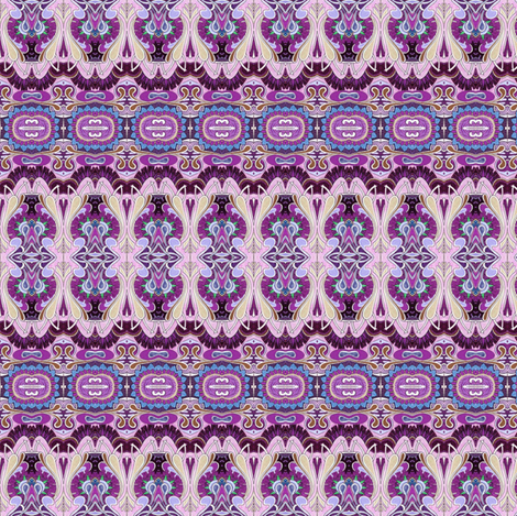 Egyptian Revival Purple fabric by edsel2084 on Spoonflower - custom fabric