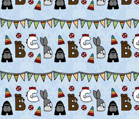 Animal Alphabet Party fabric by mayabella on Spoonflower - custom fabric