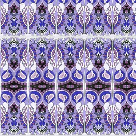 Be still my violet heart fabric by edsel2084 on Spoonflower - custom fabric