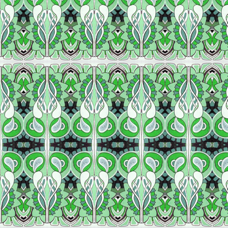 Nouveau Mint fabric by edsel2084 on Spoonflower - custom fabric