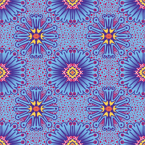 Floradots: 4 inch repeat fabric by tallulahdahling on Spoonflower - custom fabric