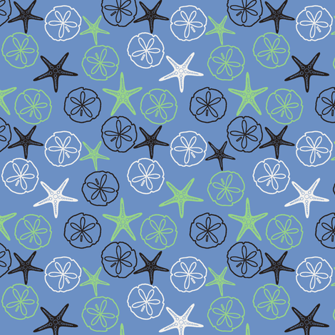 Sea Gifts - Blue fabric by inscribed_here on Spoonflower - custom fabric