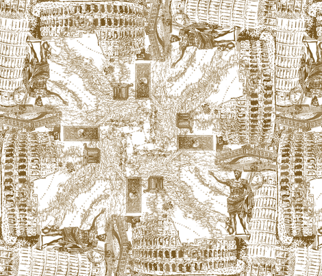 Italy Collage fabric by terrazacreative on Spoonflower - custom fabric