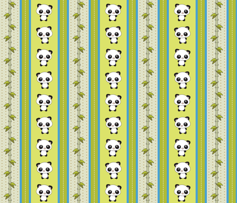Pandamonium Stripe fabric by 2cutequilts on Spoonflower - custom fabric