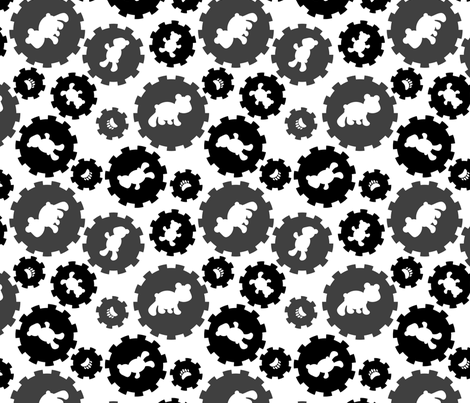 LaraGeorgine_Baby-Boy_Black&White fabric by larageorgine on Spoonflower - custom fabric