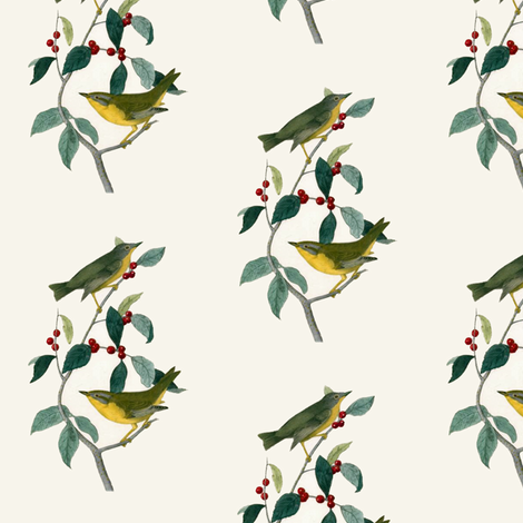 Yellow Birds fabric by susaninparis on Spoonflower - custom fabric