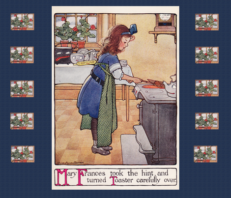 Mary Frances Cooking fabric by karenharveycox on Spoonflower - custom fabric