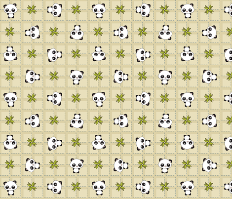 Pandamonium Plaid fabric by 2cutequilts on Spoonflower - custom fabric