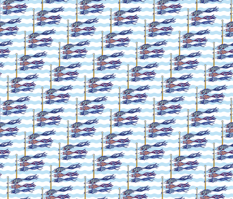 Koinobori fabric by patters on Spoonflower - custom fabric