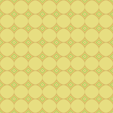 Daffodil Yellow Circles © Gingezel™ 2009 fabric by gingezel on Spoonflower - custom fabric