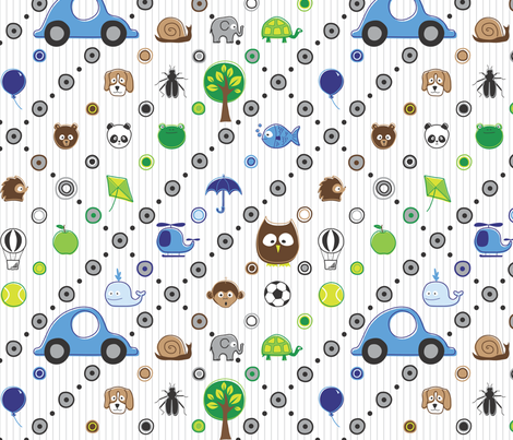 A Few Of My Favorite Things fabric by karaforristall on Spoonflower - custom fabric
