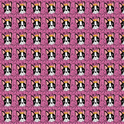 Tiny Pretty Boston Terrier Princess fabric by missyq on Spoonflower - custom fabric