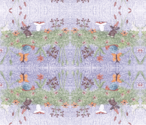 Gnome in the Meadow fabric by netti on Spoonflower - custom fabric